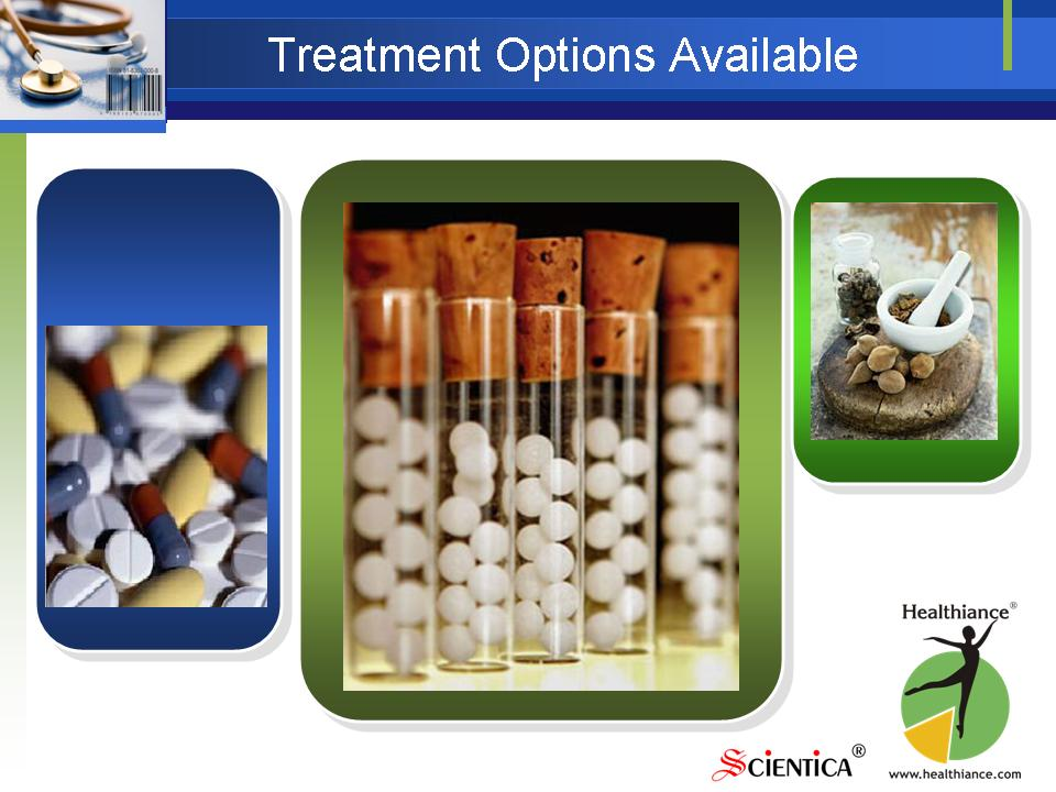 Treatment Options Available - Allopathy, Homeopathy, Ayurveda